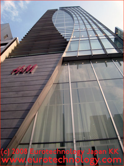 H&M's building in Ginza
