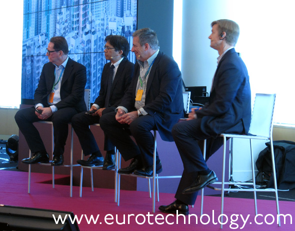 Panel (left to right): Mats Olsson (Ericsson), Katsuya Watanabe (MIC), John Rossant (New Cities Foundation), Douglas Gilstrap (Ericsson)