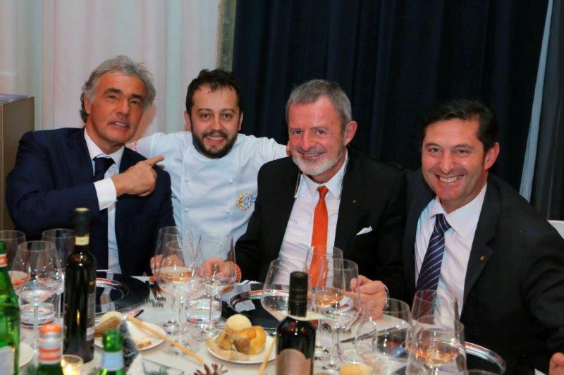 Massimo Giletti, Alessandro Negrini, Alberto Lupini e Aldo Cursano