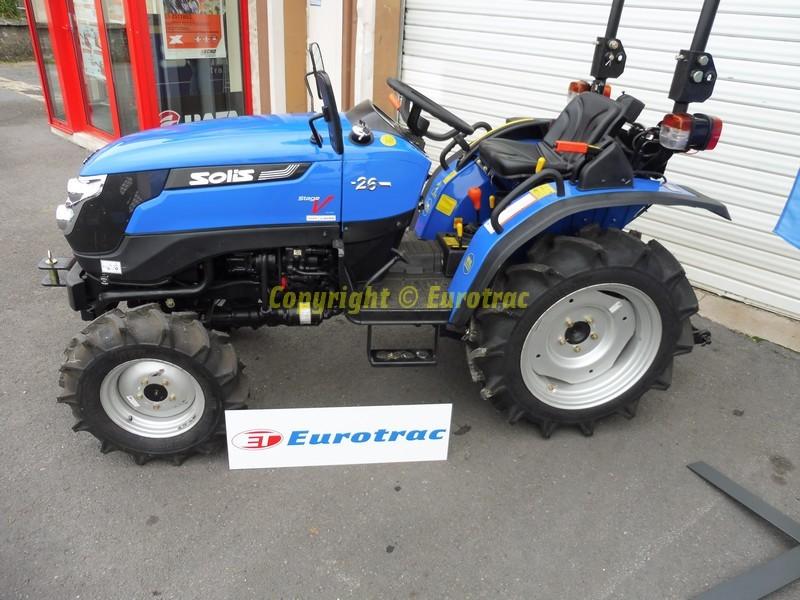 Micro Tracteur Agricole Solis 26 Xl 4x4 26 Cv Carte Grise Eurotrac
