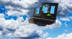 laptop on cloud