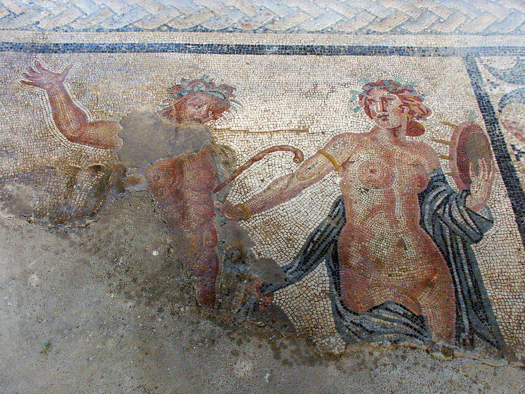 Satyr and Maenad in the ancient Roman city of Aizanoi. Photo by Efendi, 2005.