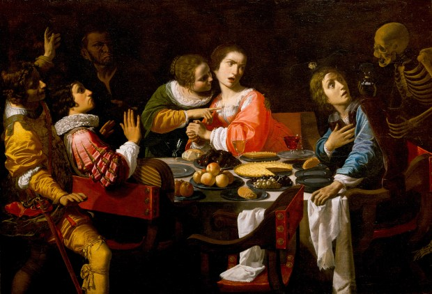 Death_Comes_to_the_Banquet_Table_-_Memento_Mori_-_Giovanni Martinelli_NOMA