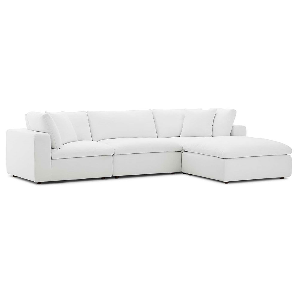 command 4 piece sectional white