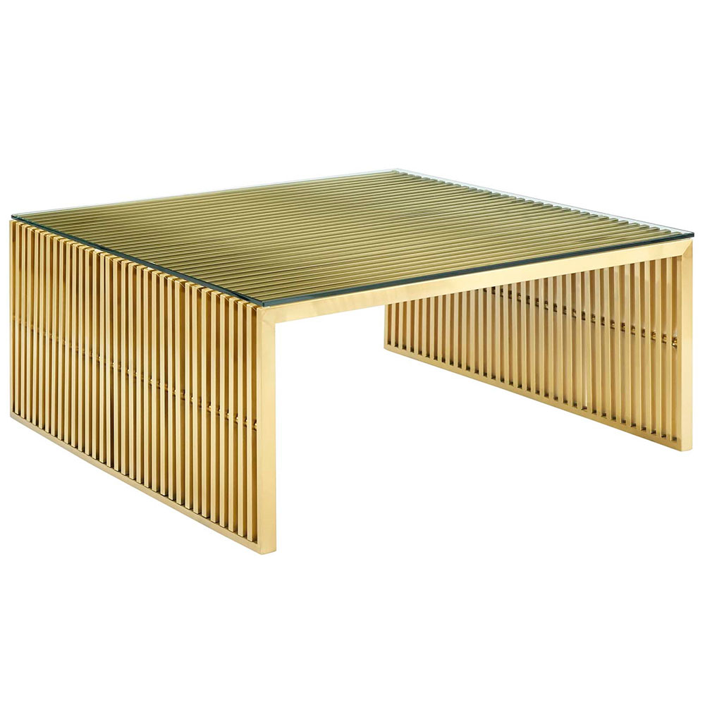 galvano coffee table gold