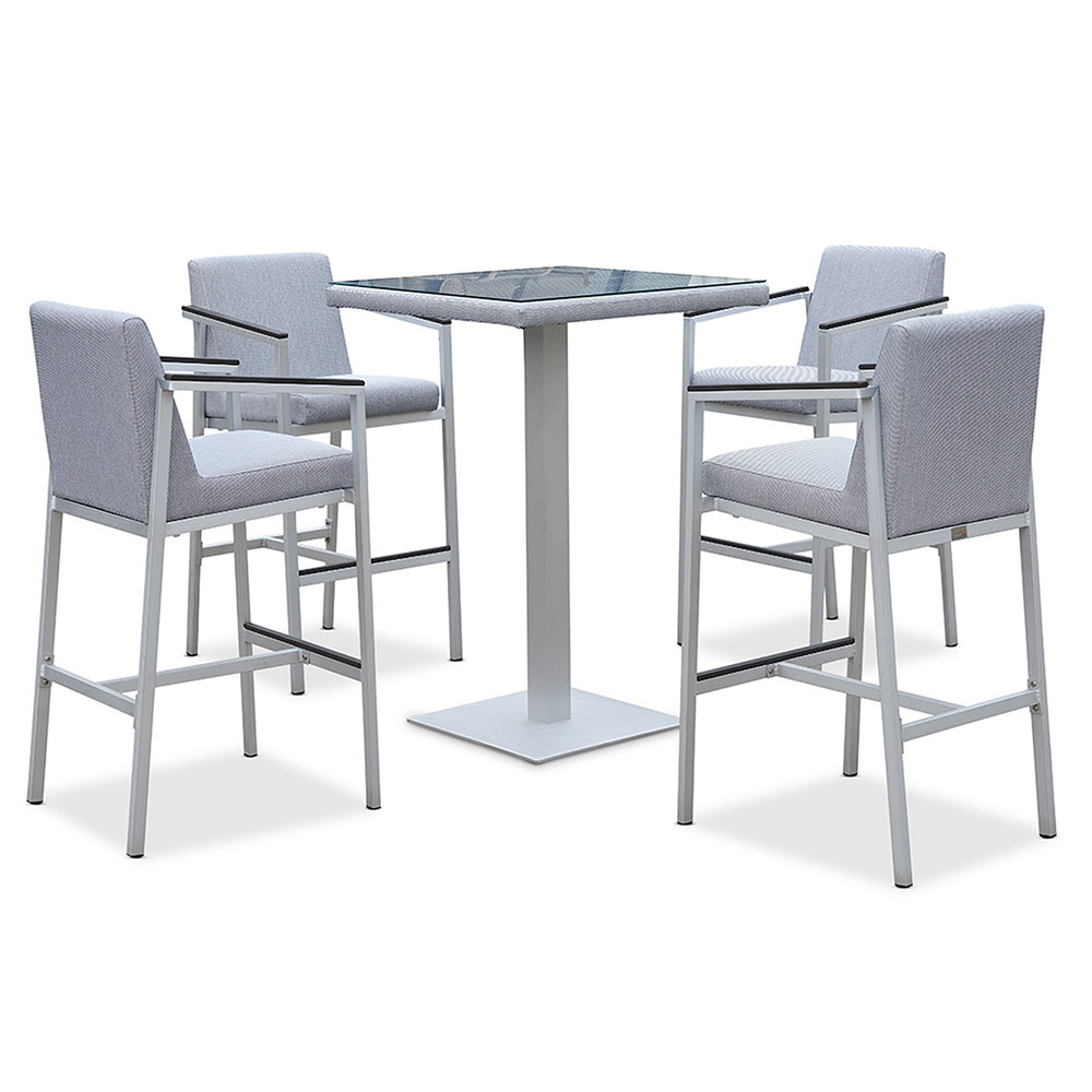 orleans 5pc outdoor bar table set