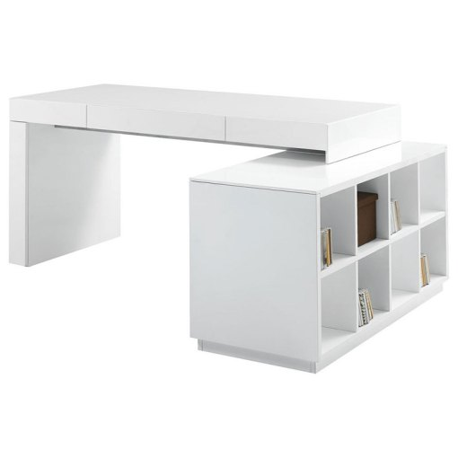 Sheldon Modern White Desk   Bookcase   Eurway Furniture Call to Order      Sheldon Modern White Desk with Bookcase
