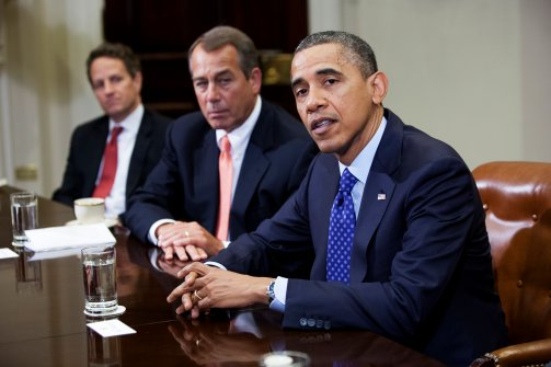 obama & boehner (at table)