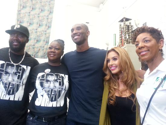 kobe bryant, trayvon martin family,