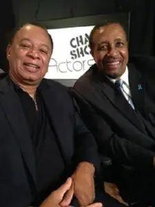 Charles Floyd Johnson (left) with host Ron Brewington