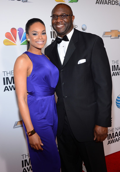Actress Demetria McKinney (L) and producer Roger M. Bobb attend the 44th NAACP Image Awards at The Shrine Auditorium on February 1, 2013 in Los Angeles, California