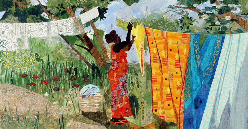 jamaican laundress by ekua holmes, the cloethesline muse, nnenna freelon