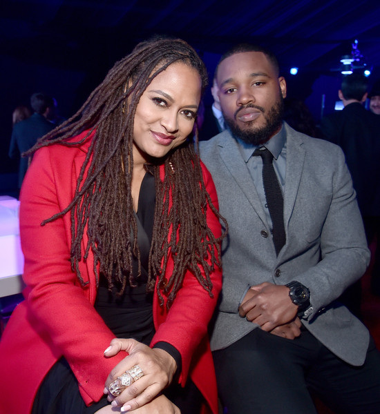 """Ava DuVernay (L) and Ryan Coogler attend the after party for the World Premiere of """"Star Wars: The Force Awakens"""" on Hollywood Blvd on December 14, 2015 in Hollywood, California."""