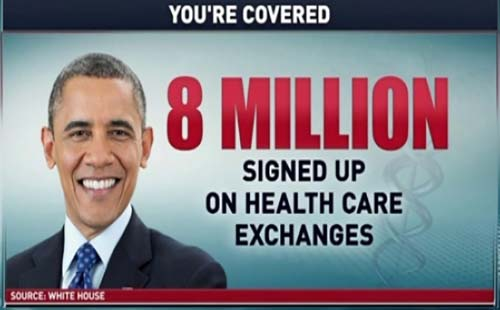 obamacare (8 million signups)