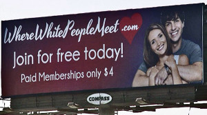where white people meet billboard