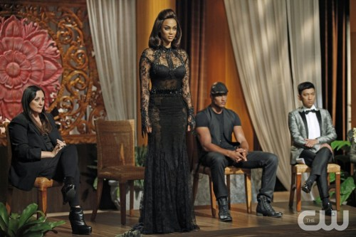 """America's Next Top Model -- """"Finale Part 2: The Guy or Girl Who Becomes America's Next Top Model"""" pictured left to right: Kelly Cutrone, Tyra Banks, Rob Evans and Bryanboy Cycle 20 Photo: Angelo Sgambati/The CW ©2013 The CW Network, LLC. All Rights Reserved"""