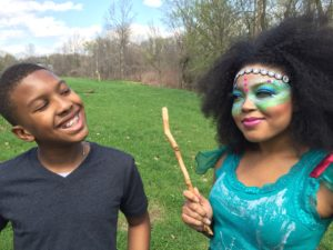 Award winning actor/filmmaker Anthony Michael Hobbs shown with co-star Trinity Breanne Perio in he short-film Naga Pixie (Imagination Lunchbox).