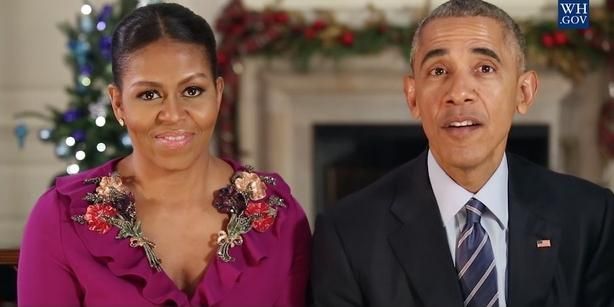 michelle & barack (final christmas greeting)