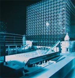 Maqueta del Centro Cultural de la Villa de Bilbao (Archivo General del Ayuntamiento de Bilbao)