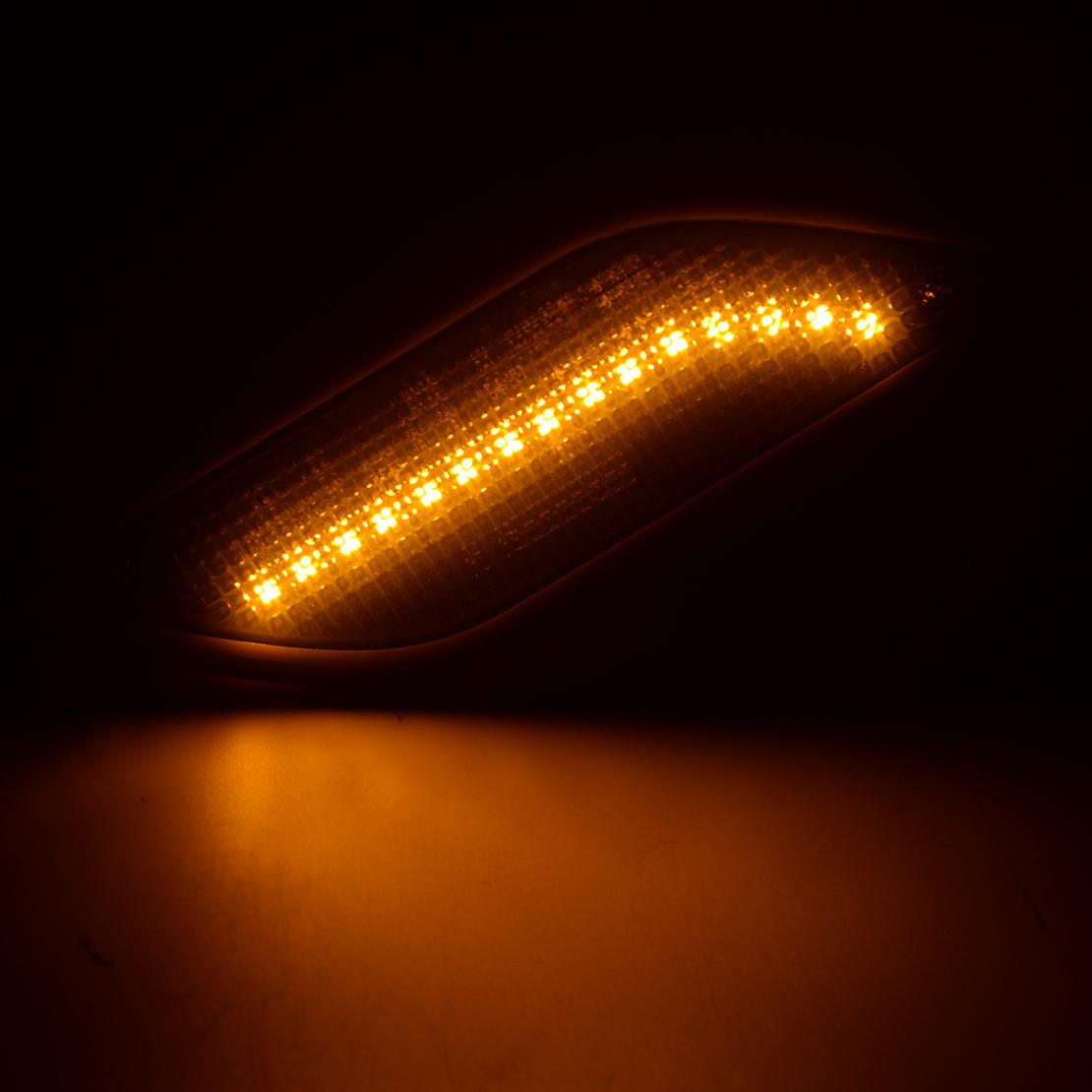 2pc Side Marker Indicator Light Repeater Lamp 12v Fit For