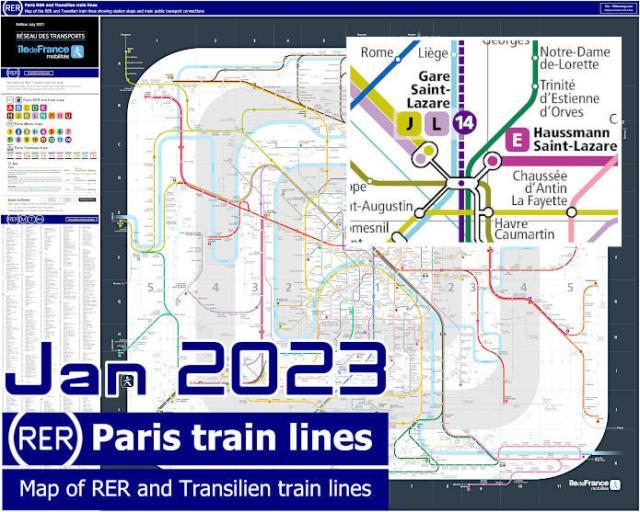 Paris RER Train Map