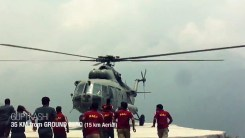 Rescue Helicopter reaching Guptkashi