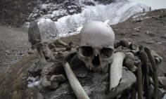 Skeletons around lake