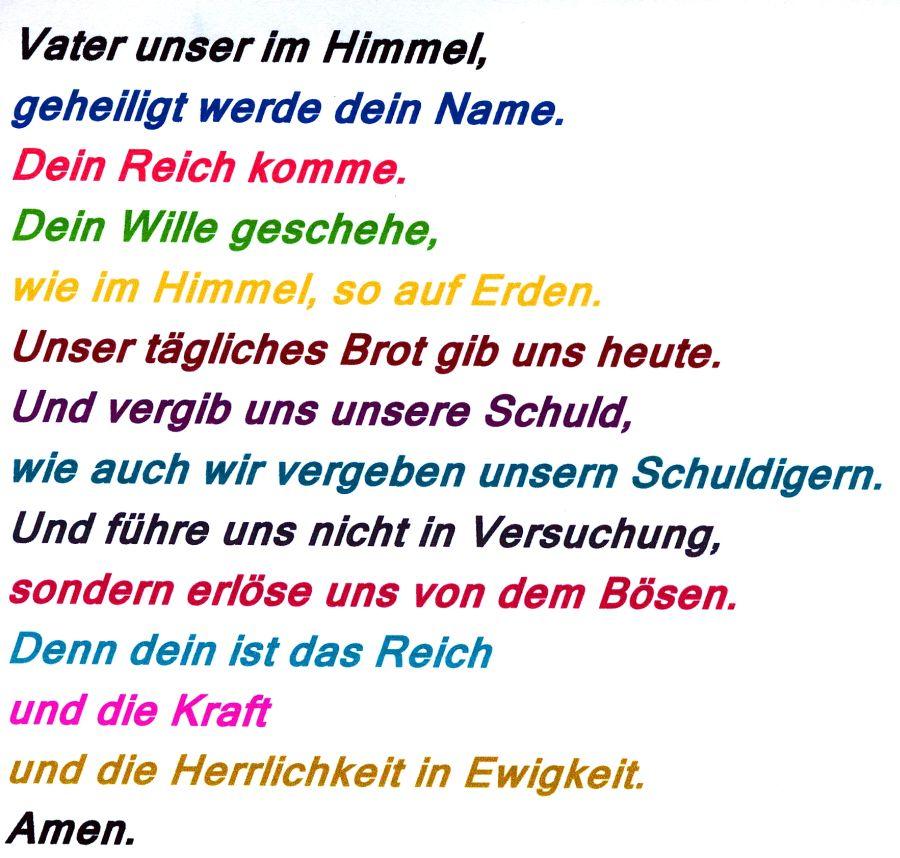 Vater Unser Deutsch