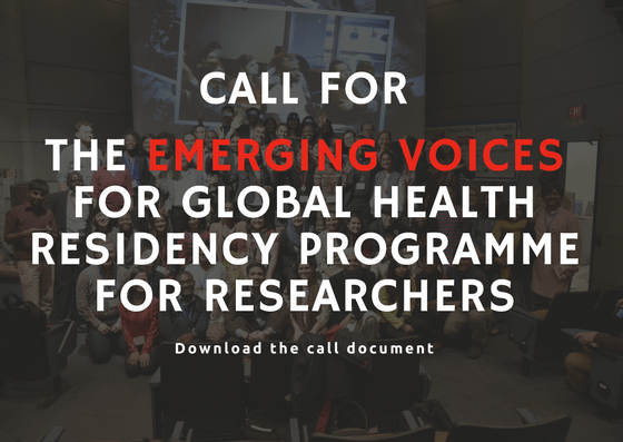 Call for Emerging Voices for global health residency programme for researchers
