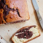 Marbled vanilla and chocolate bread