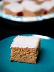 Acorn squash (or pumpkin) cake bars with cream cheese frosting
