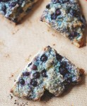 Blueberry scones for two