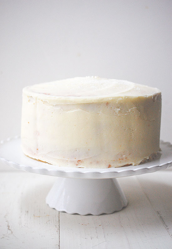 champagne cake with champagne buttercream