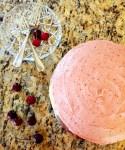 Fresh cherry layer cake with cherry buttercream