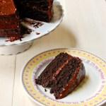 Chocolate caramel sea salt cake