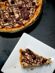 Double peanut butter cheesecake pie