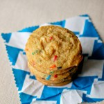 White chocolate funfetti pudding cookies