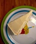 Luscious lemon cake with lemon buttercream