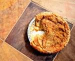 Warm apple buttermilk custard pie