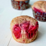 Roasted strawberry muffins