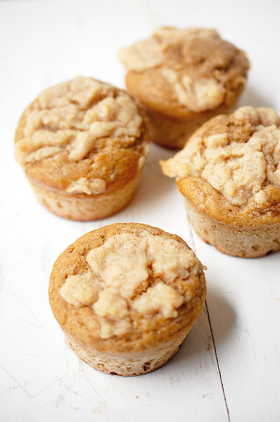 Coffee cake streusel muffins