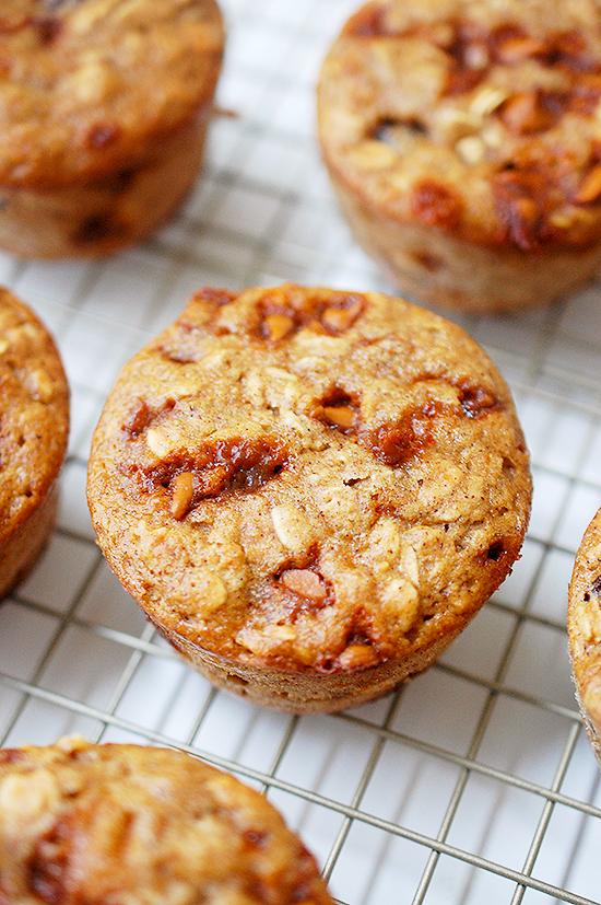 oatmeal raisin cinnamon muffin