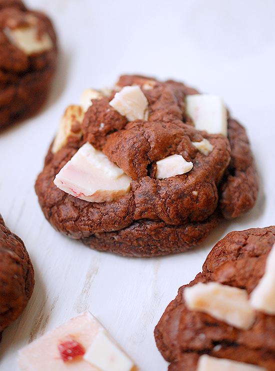 triple chocolate peppermint cookies