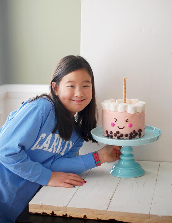 bubble tea chocolate cake