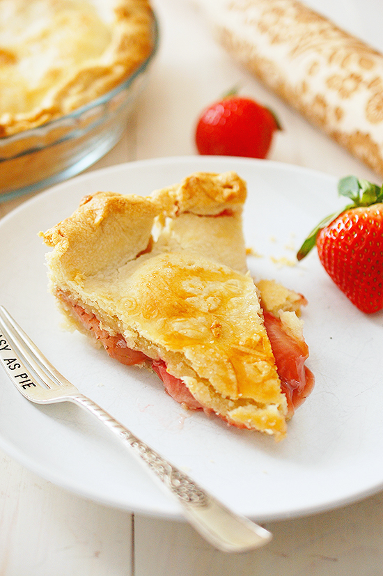 double crusted strawberry pie