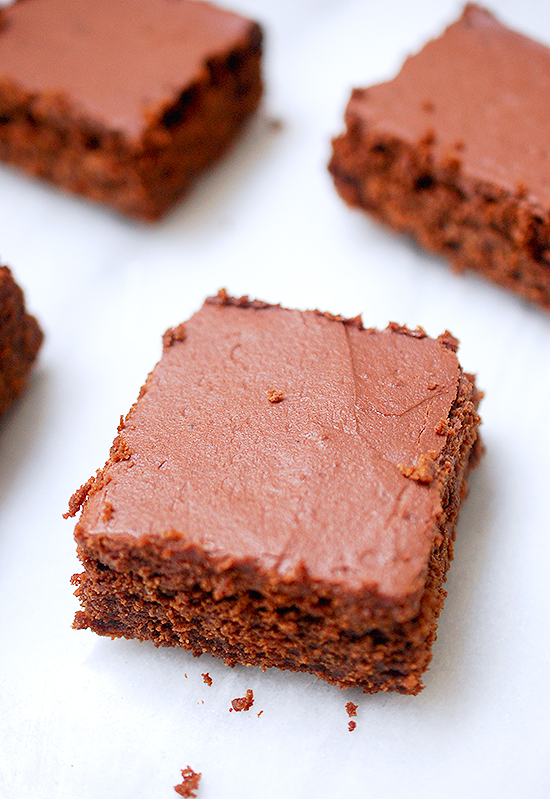 sourdough frosted brownies
