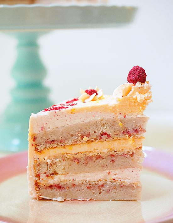 raspberry mango cake