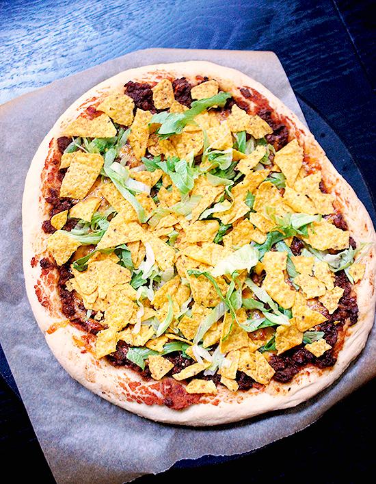 Copycat Casey's taco pizza