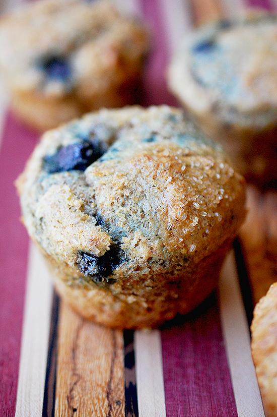 Whole wheat lemon blueberry muffins (a Whole Foods recipe)