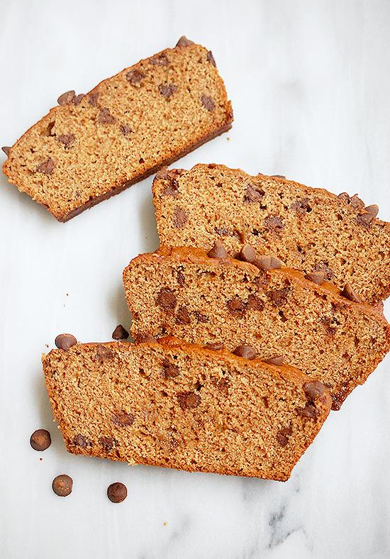 vegan whole wheat chocolate chip bread